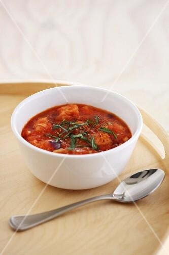 Pappa al pomodoro (tomato bread soup), Tuscany, Italy