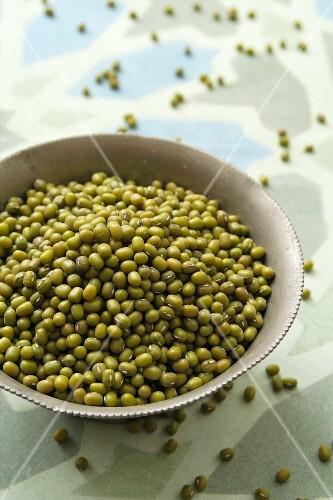 A bowl of mung beans