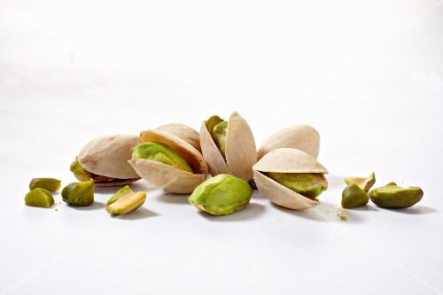 Pistachios, whole and shelled