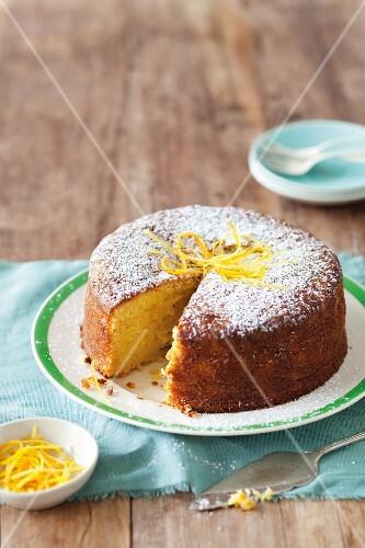 Lemon and almond cake