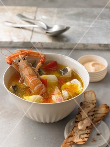 Bouillabaisse fish soup, France