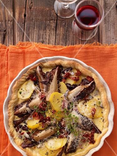 Sardinian potato quiche