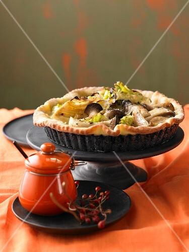 Pointed cabbage quiche