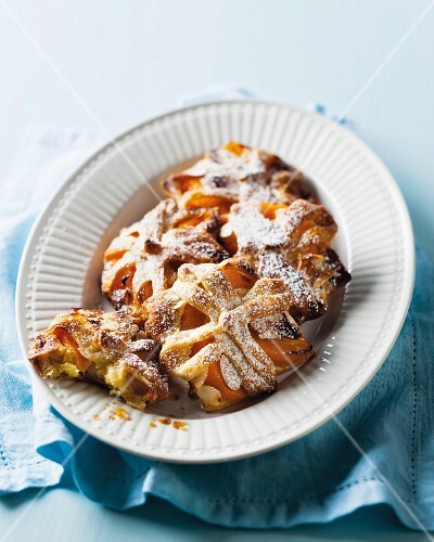 Peach and almond pastries