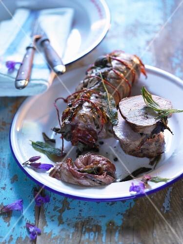 Pork fillet with a sage and Parma ham filling