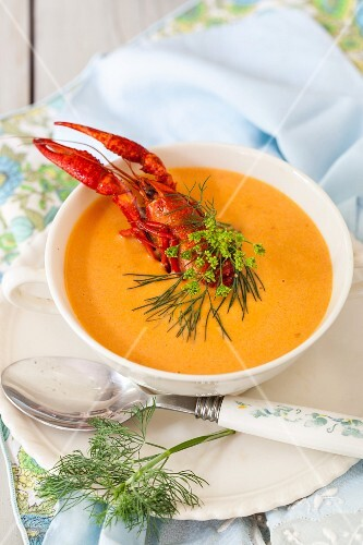 Luxurious lobster bisque