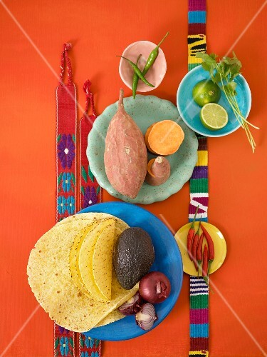 Ingredients for Mexican dishes