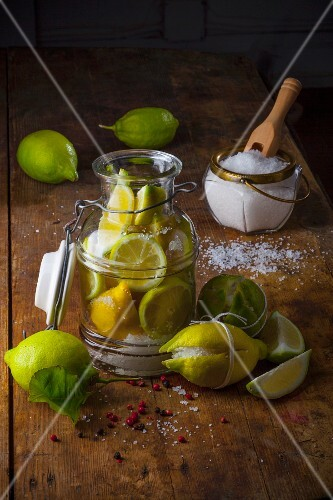Moroccan style salted, preserved lemons