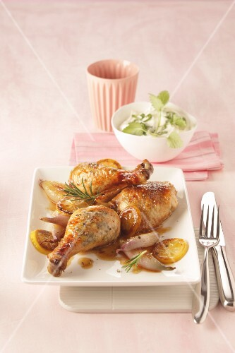 Lemon chicken with shallots