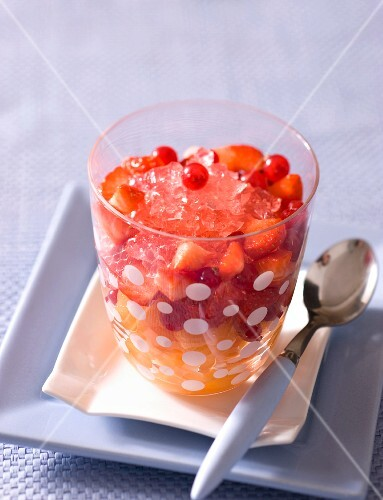 Rose jelly with fruit