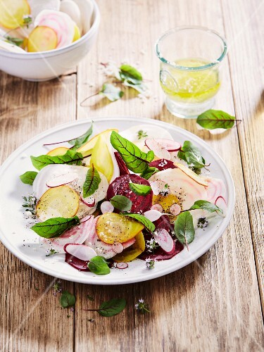 Beetroot and radish salad