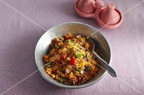 Couscous with peppers