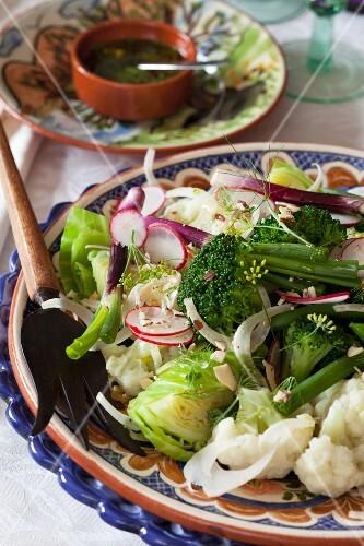 A large vegetable salad