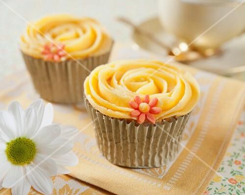 Apricot cream cupcakes