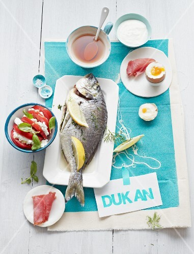 A day's food for the Duken diet