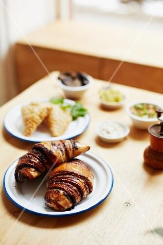 Israeli pastries: Rugelach (chocolate croissants)