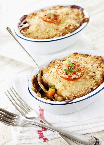 Cottage pie with vegetables