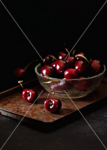 Glass Bowl of Cherries