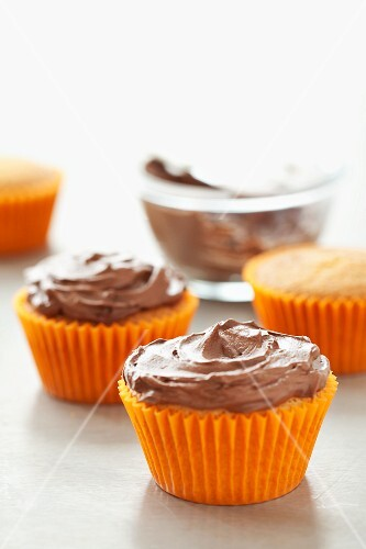 Cupcakes topped with ganache