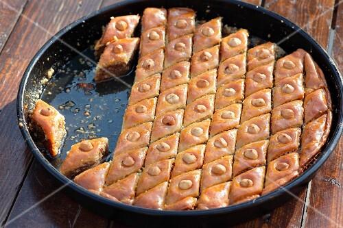 Baklava (nut cakes with syrup, Turkey)