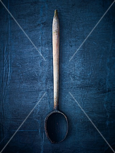 An antique wooden spoon (seen from above)