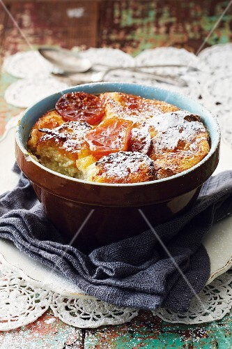 Bread bake with butter and marmalade
