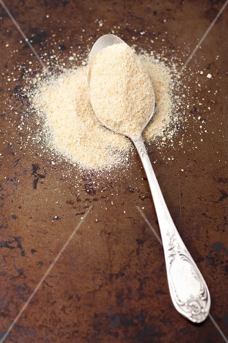 Breadcrumbs with a spoon