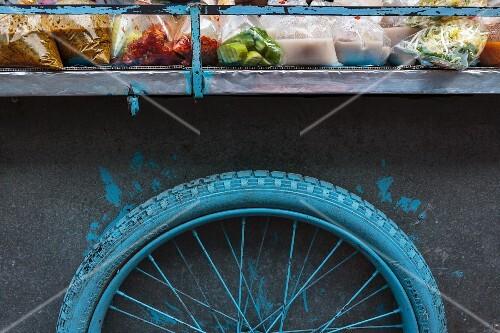 A market vendor's wagon in Thailand (detail)
