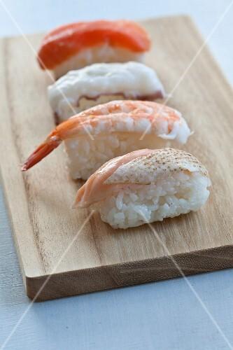 Different kind of Nigiri sushi