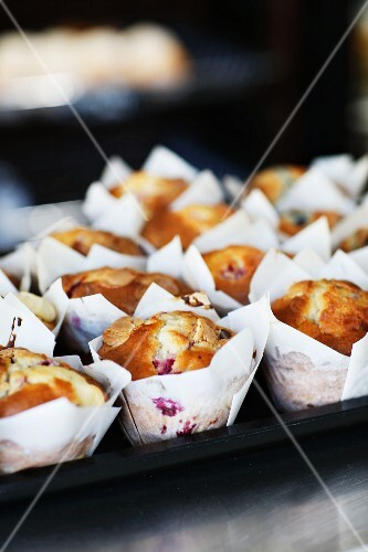 Berry muffins in Noosa