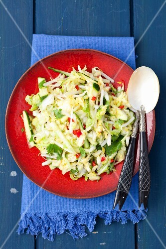 Cucumber and Chinese cabbage salad with chilli