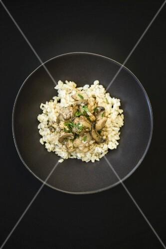 Mushroom risotto with parsley