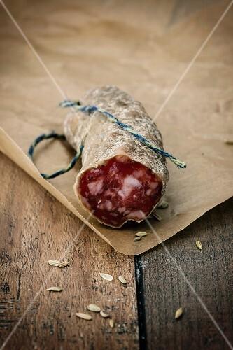 Gourmet salami with fennel