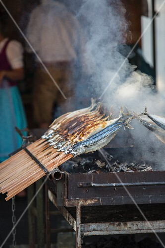 Fish grilled on sticks, Bavaria