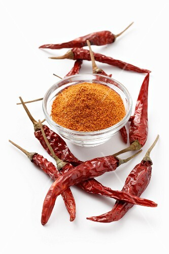 Cayenne pepper and chilli peppers