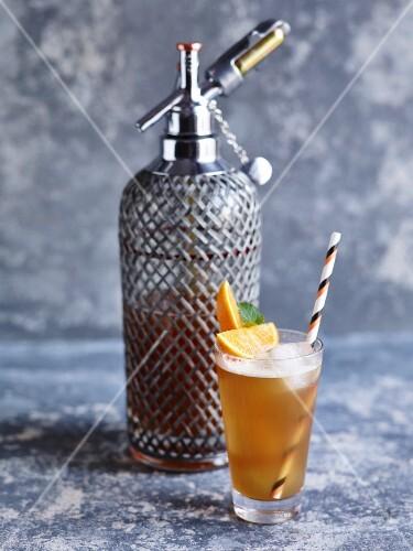 Ceylon tea and orangeade
