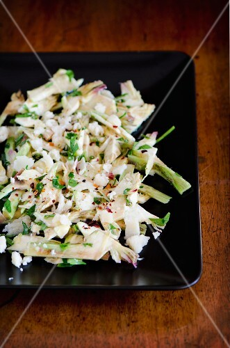 Coleslaw with artichokes and Parmesan