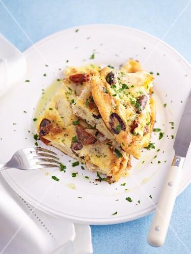 Cod and potato tortilla