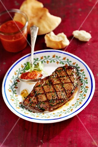 Habanero salsa for grilled beef steaks