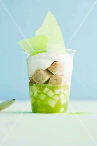Green apple trifle