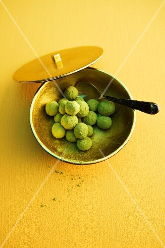 Green tea pearls
