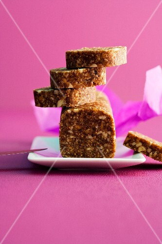 Sliced fig bread