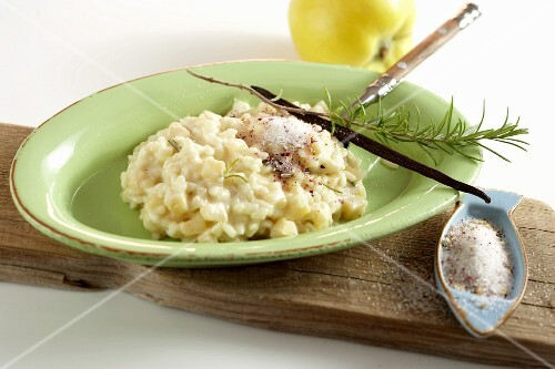 Sweet quince risotto