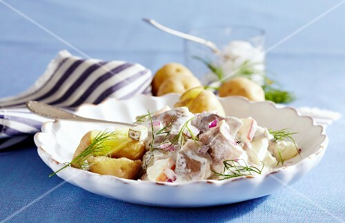 East-Frisian soused herring salad with potatoes