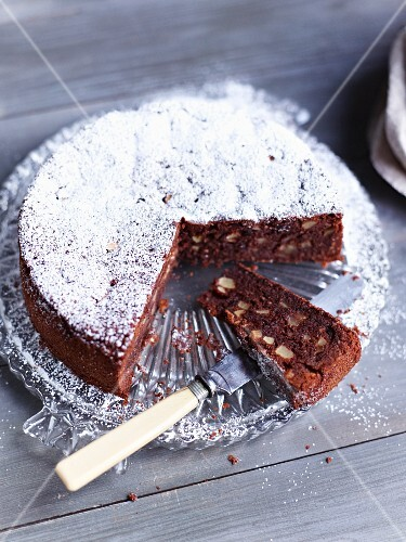 Spiced chocolate and apple cake