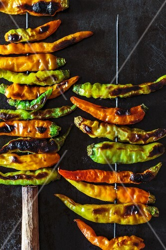 Grilled chilli skewers