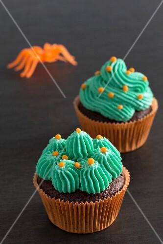 Chocolate cupcakes for Halloween