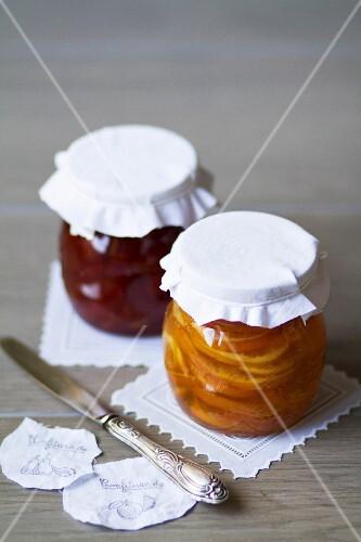 Pear jam and marmalade