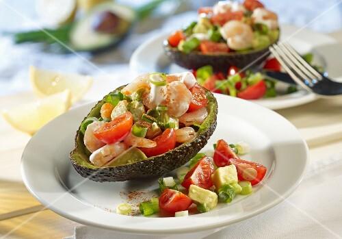 Avocado and shrimp cocktail