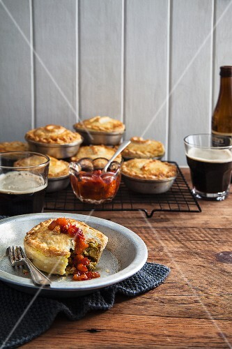 Moroccan chicken pie with ajvar